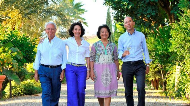 La Famiglia Rallo. Da sinistra: Giacomo Rallo, Josè Rallo, Gabriella Anca Rallo e Antonio Rallo