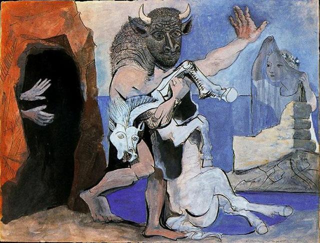Minotauro e cavallo di Pablo Picasso