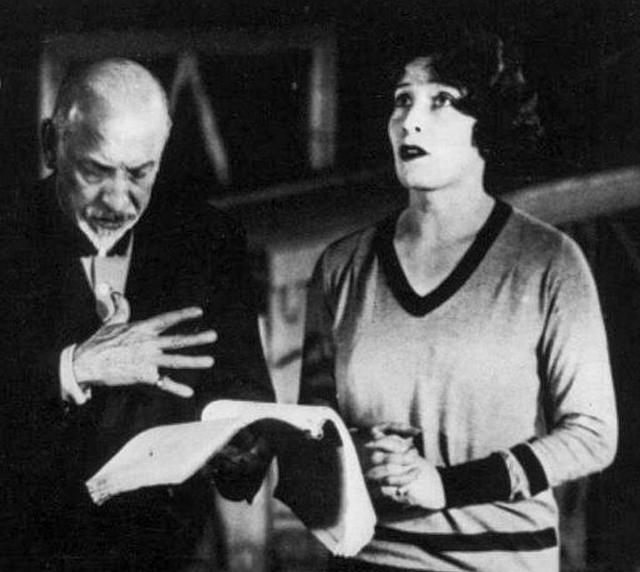Luigi Pirandello insieme a Marta Abba