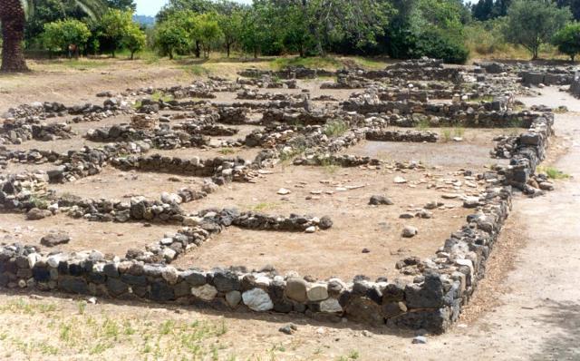 L'area degli scavi di Giardini Naxos