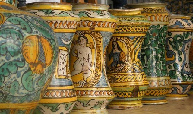 Alcune tipiche ceramiche di Burgio
