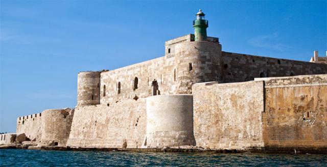 Il Castello Maniace di Siracusa, punta estrema dell'Isola di Ortigia