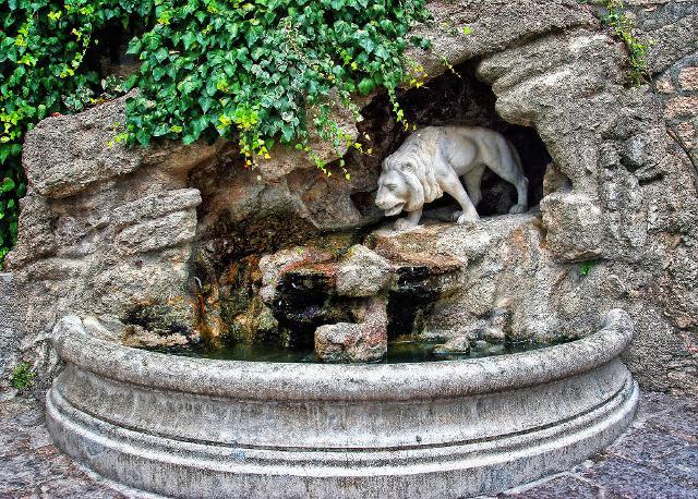 La fontana del leone a Gangi