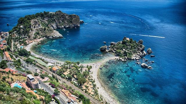 Isola Bella vista dall'alto