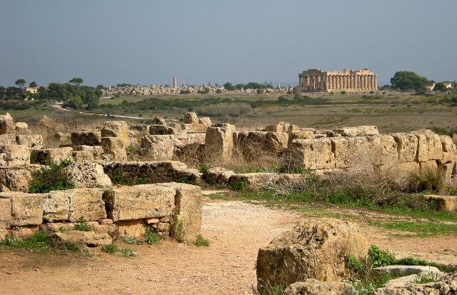 Una veduta del Parco Archeologico di Selinunte