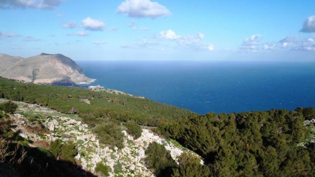 Il panorama che si gode da Monte Pellegrino (PA)