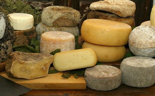Diverse tipologie di formaggi e caciotte siciliane
