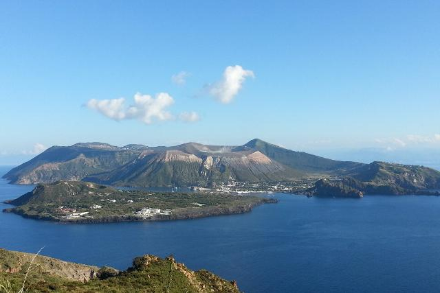 Panorama dell'isola di Vulcano - Eolie
