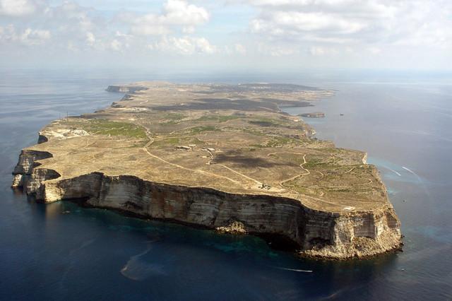 Lampedusa vista dall'alto