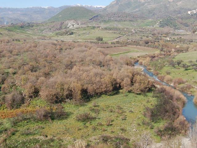 Il fiume Alcantara visto dal Monte Mojo