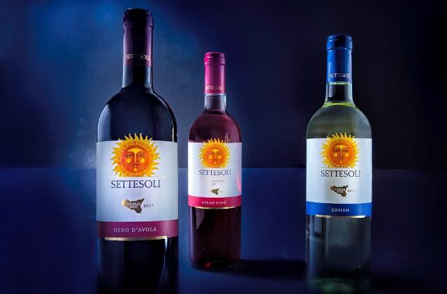Alcuni dei vini delle Cantine Settesoli