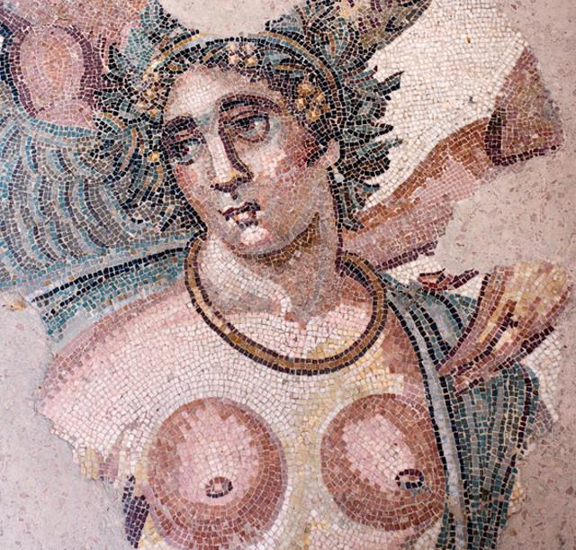 Una delle meravigliose figure a mosaico della Villa romana del Casale