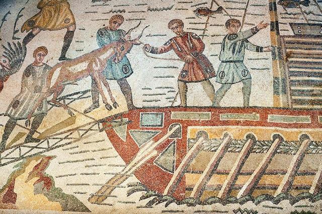 Una scena del mosaico della Grande Caccia - Villa romana del Casale
