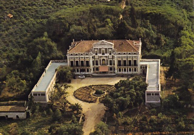 Villa Trabia vista dall'alto