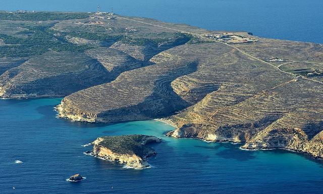 Una foto aerea di Lampedusa