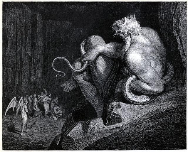 Minosse in una illustrazione di Gustave Dorè per la Divina Commedia di Dante Alighieri