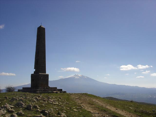 Obelisco di Nelson in contrada Serra del Mergo, Maniace