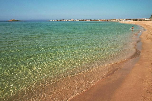 La spiaggia di Isola delle Femmine