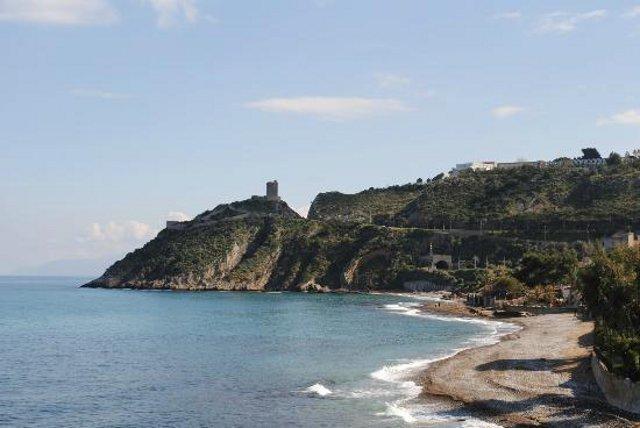 La spiaggia di Torre Normanna, ad Altavilla Milicia (PA)