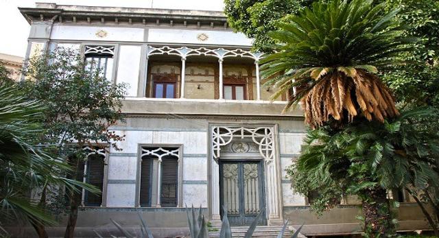 La facciata del Villino Favaloro