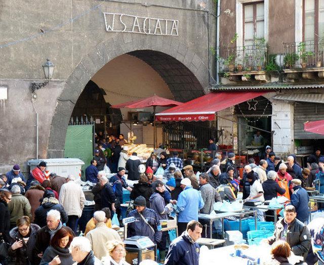 L'arco della Piscaria a Catania