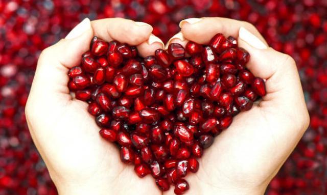 Il melograno protegge la salute delle arterie e di conseguenza quella del cuore...