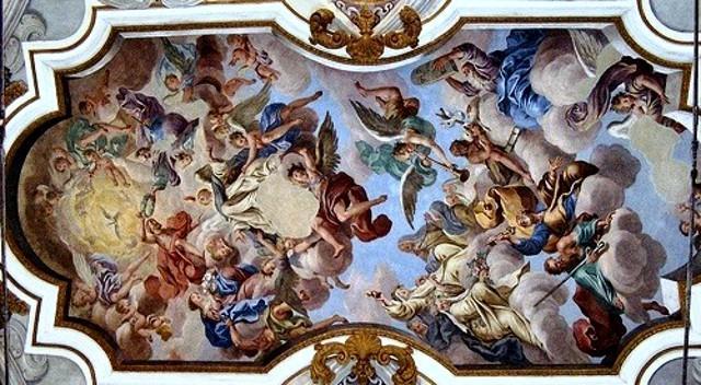 Un affresco di Guglielmo Borremans nella Chiesa di San Vincenzo Ferreri - Nicosia (EN)