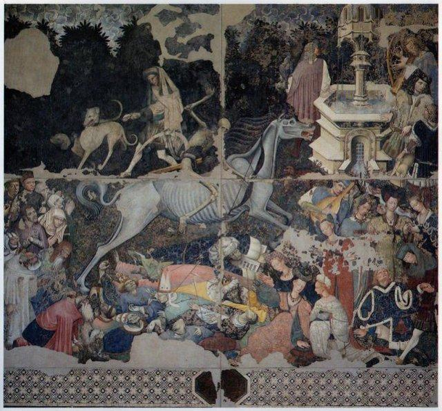 """Lo straordinario, grande affresco del """"Trionfo della Morte"""" - Palazzo Abatellis, Palermo"""