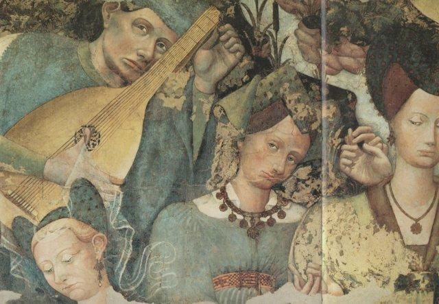 Il suonatore di liuto, simbolo di armonia, oltre a confermare l'identità delle tre Grazie, ci fa tornare al motivo della liberazione e della purificazione avvenuta...