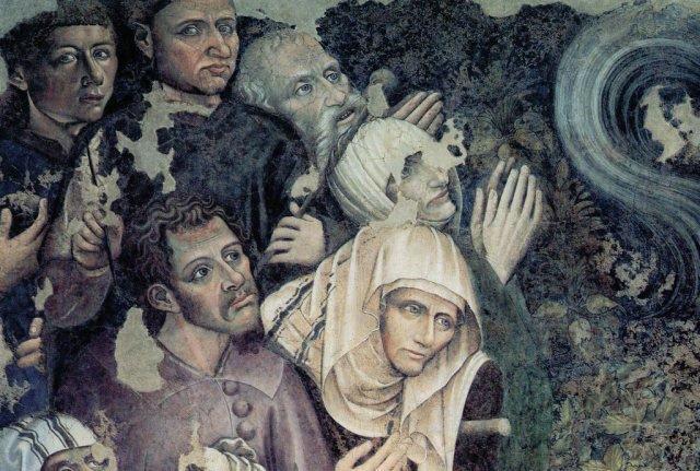 I ritratti dei due artisti appaiono travestiti da cerusico e aiutante del medico salassatore...