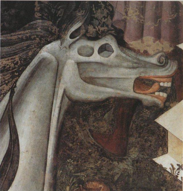 """""""E vidi subito apparire un cavallo bianco, e colui che vi stava sopra aveva un arco (...). E subito vidi apparire un cavallo verdastro, e colui che vi stava sopra aveva nome Morte e l'Inferno lo seguiva (...)"""". - da L'Apocalisse dell'apostolo Giovanni"""