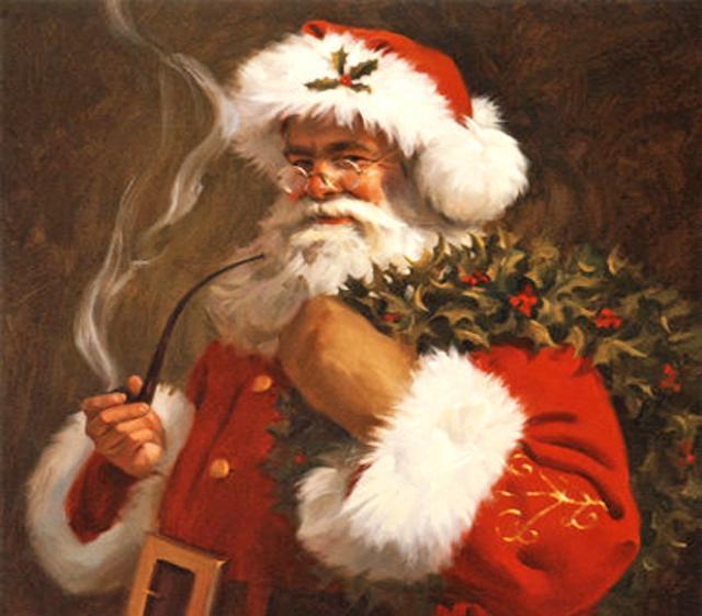 """Ogni nazione ha il suo Babbo Natale: i francesi hanno ''Pere Noel'', gli Inglesi ''Father Christmas'' (sempre dipinto con ramoscelli di agrifoglio, edera e vischio) e la Germania ha """"Weihnachtsmann"""" (l'uomo del natale)"""