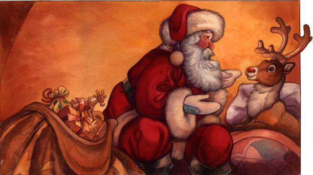 Una nona renna, chiamata Rudolph, nacque sempre a scopo pubblicitario nei grandi magazzini statunitensi Montgomery Ward, nel 1939...