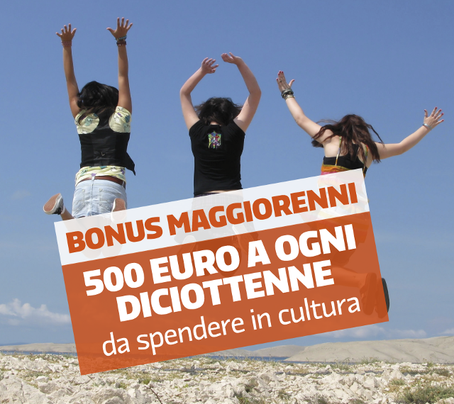 500 euro da spendere in Cultura
