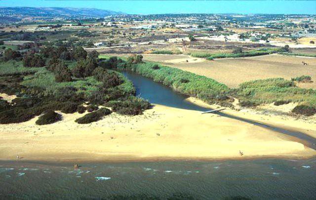 La foce del fiume Irminio