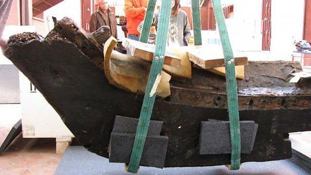 Il relitto della nave greca custodito nel Museo Archeologico Regionale di Gela