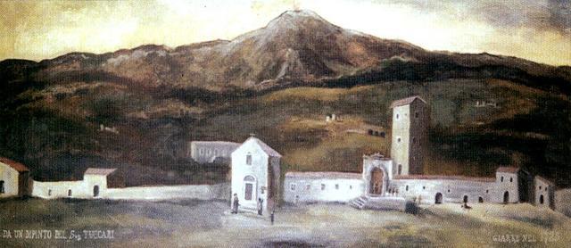 Una veduta di Giarre nel 1725 dipinta da Giovanni Tuccari, pittore messinese di scuola barocca.