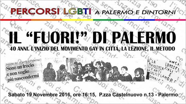 Sull'importanza del Fuori ! di Palermo, la prima associazione politica degli omosessuali in Sicilia