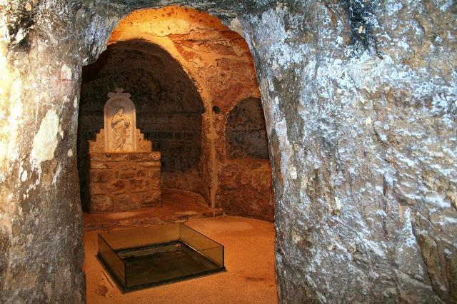 """La """"'Grotta della Sibilla Lilybetana"""" che si trova sotto la Chiesa di San Giovanni Battista a Marsala"""