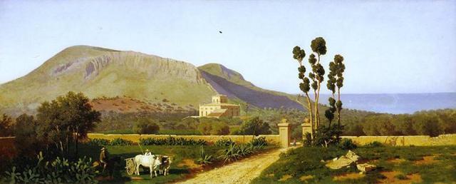 Monte Catalfano in un dipinto di Francesco Lojacono