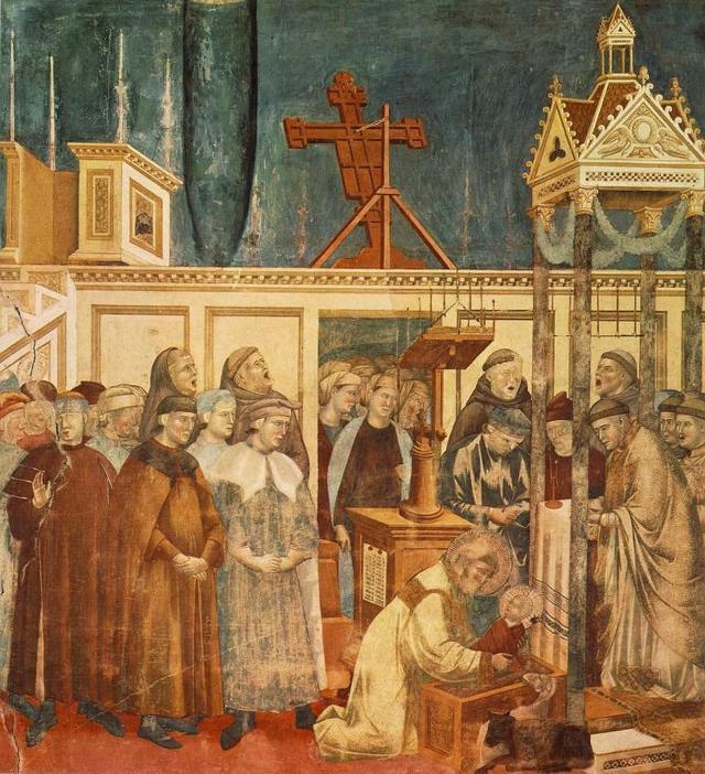 San Francesco e il Presepe di Greccio, affresco di Giotto
