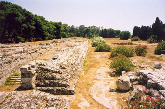 L'Ara di Ierone II nel parco Archeologico di Neapolis - Siracusa