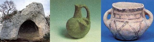 Un Tholos e alcune ceramiche ceramiche Eneolitiche