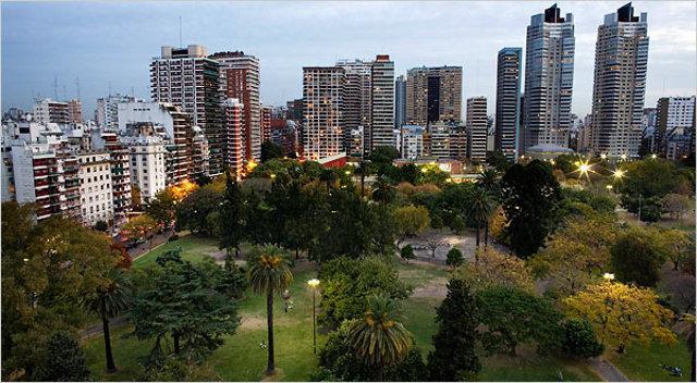 Veduta del barrio Palermo a Buenos Aires