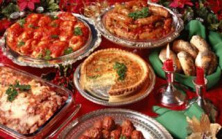 Natale a tavola in famiglia
