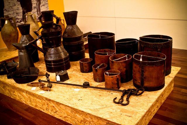 Antichi utensili conservati nel Museo etnografico della civiltà contadina di Marianopoli