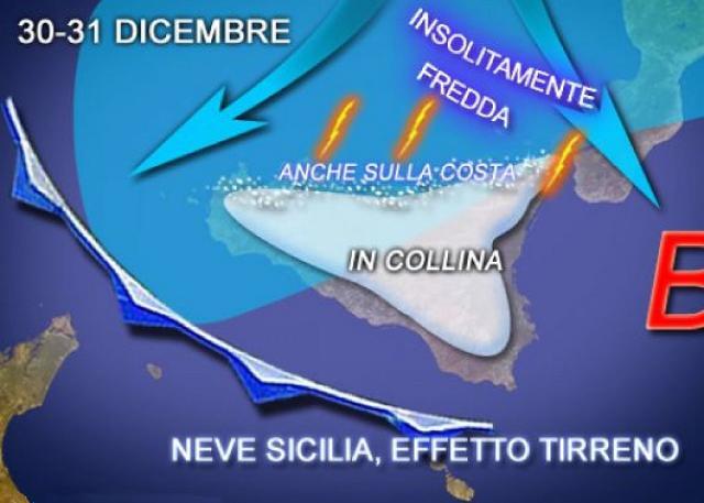 In Sicilia arrivano freddo e neve