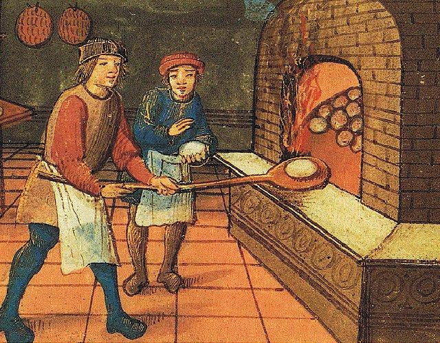 """...Toni, il servitore di cucina, impastò in fretta e furia farina, uova zucchero e tanto lievito aggiungendo infine l""""uvetta..."""
