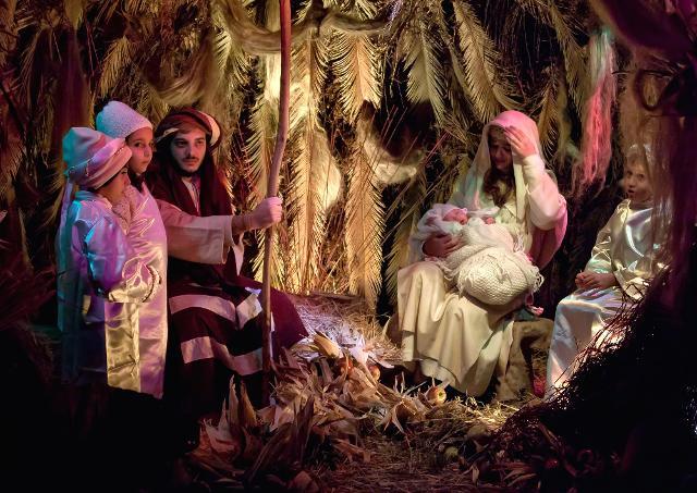 Sacra Famiglia nel Presepe vivente di Castanea delle Furie