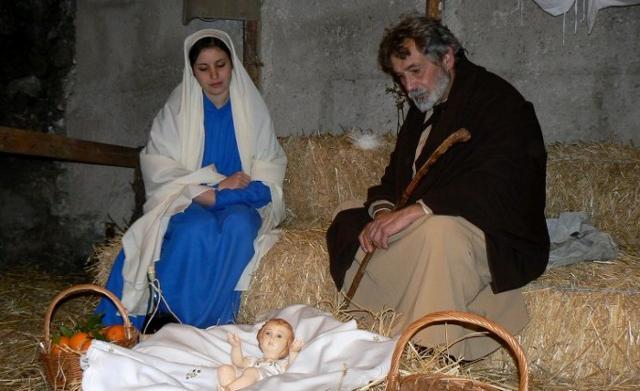 Sacra Famiglia nel Presepe vivente di Sutera
